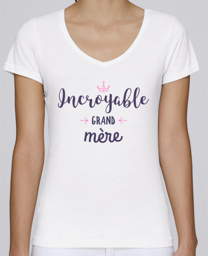 T-shirt Femme Col V Stella Chooses Incroyable grand-mère par tunetoo