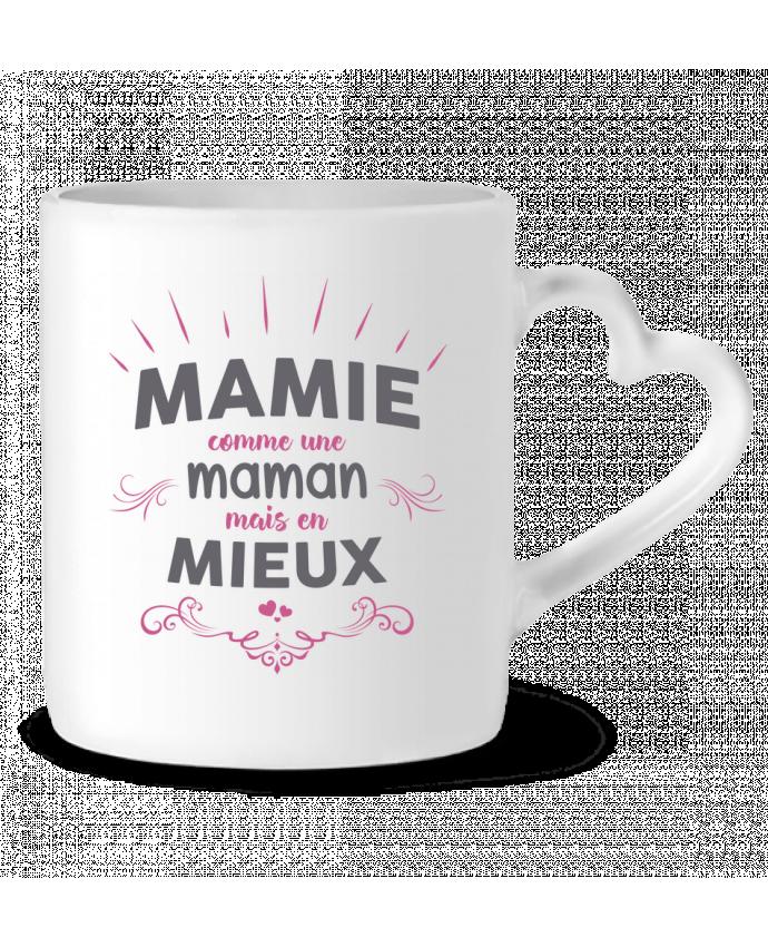 Mug Coeur Mamie comme une maman mais en mieux par tunetoo