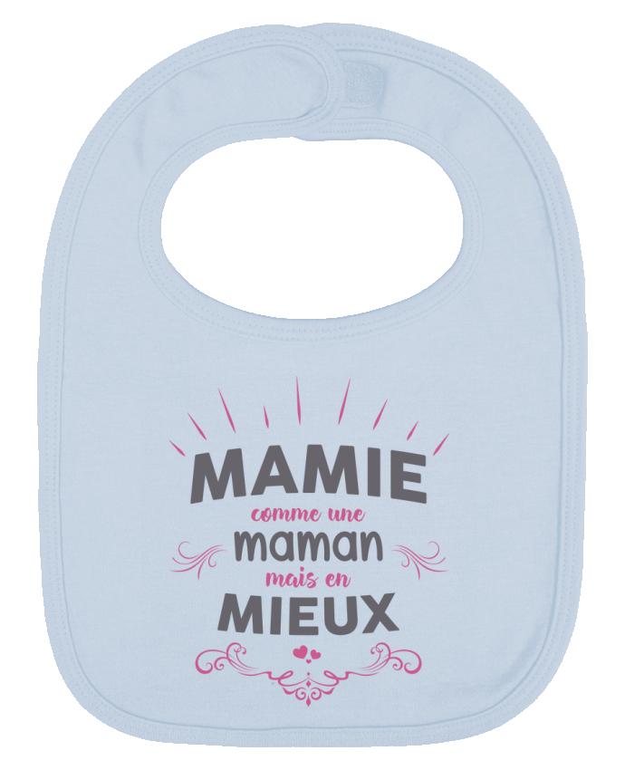 Bavoir Uni et Contrasté Mamie comme une maman mais en mieux par tunetoo
