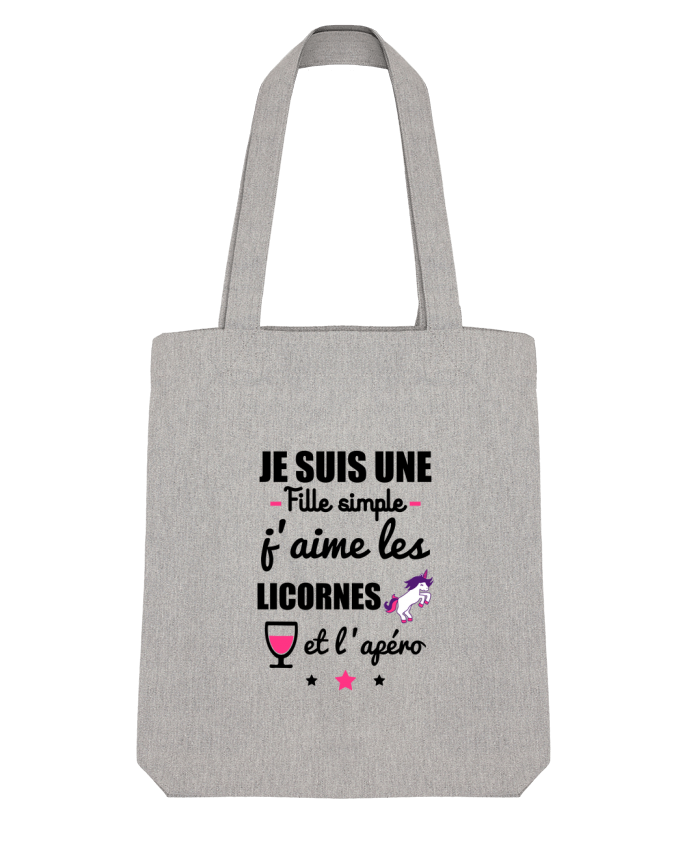Tote Bag Stanley Stella Je suis une fille simple, j