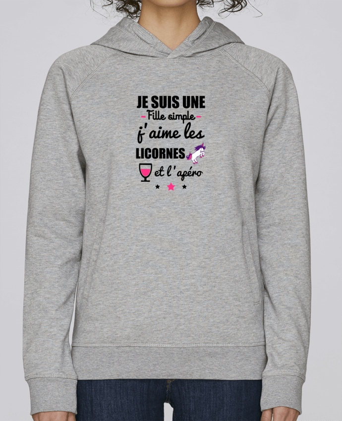 Sweat Capuche Femme Stanley Base Je suis une fille simple, j
