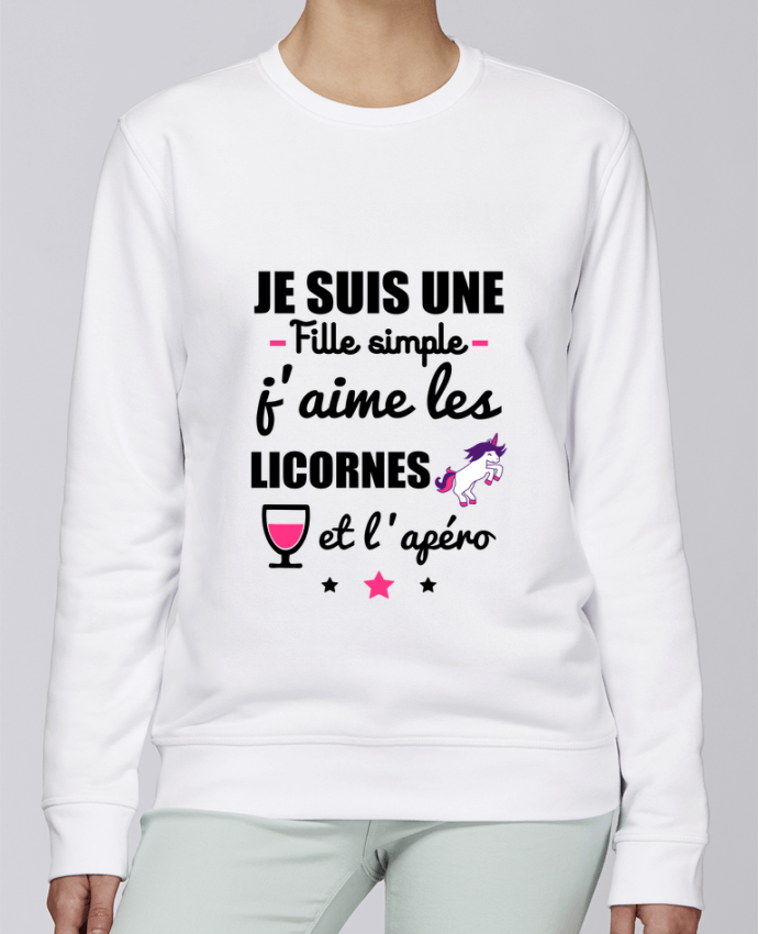 Sweat Col rond Unisexe Stanley Stella Rise Je suis une fille simple, j