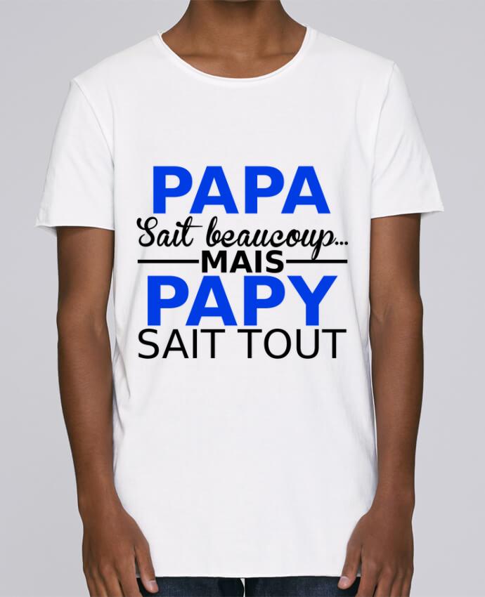 T-shirt Homme Oversized Stanley Skates papa sait beaucoup... mais papy sait tout par Milie