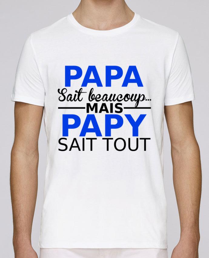 T-Shirt Col Rond Stanley Leads papa sait beaucoup... mais papy sait tout par Milie