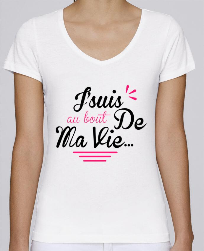 T-shirt Femme Col V Stella Chooses j'suis au bout de ma vie par Milie
