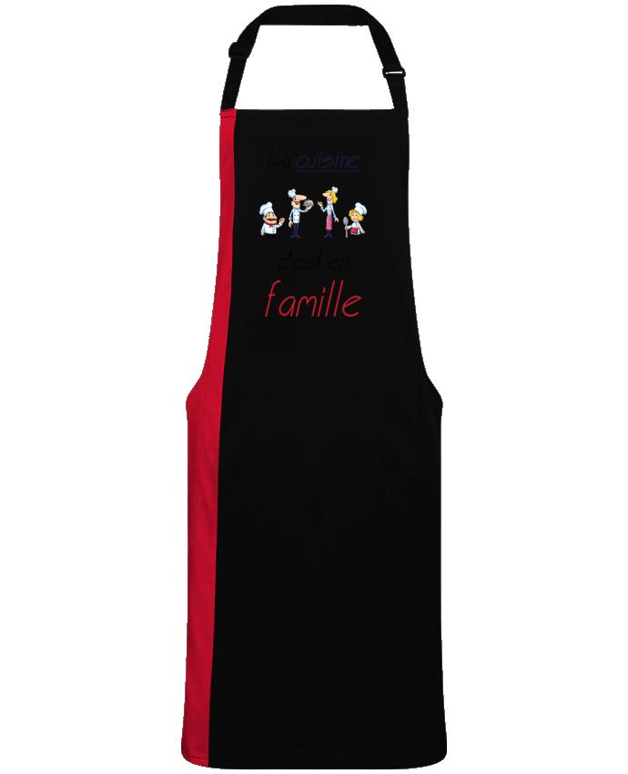 Tablier Long Bicolore Cuisine en famille par  Leo