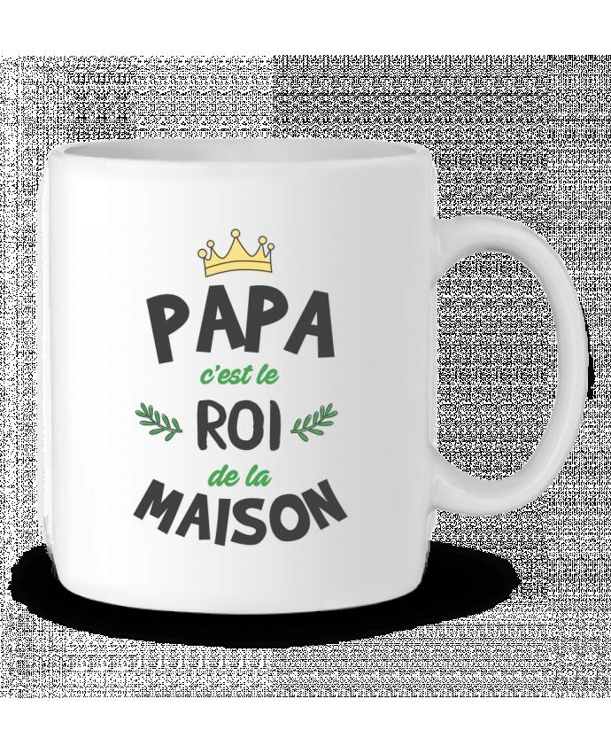 Mug en Céramique Papa c'est le roi de la maison par tunetoo
