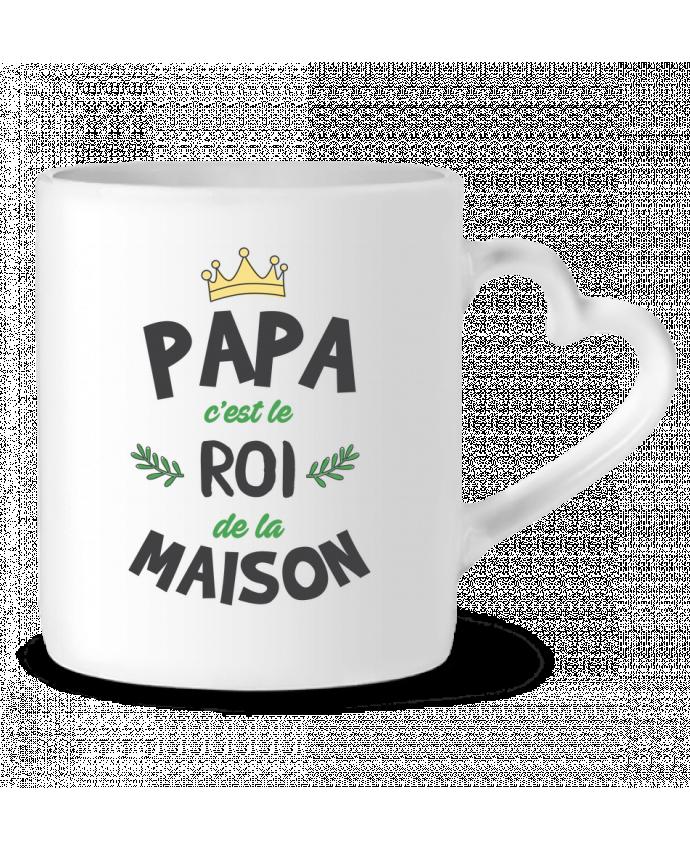 Mug Coeur Papa c'est le roi de la maison par tunetoo