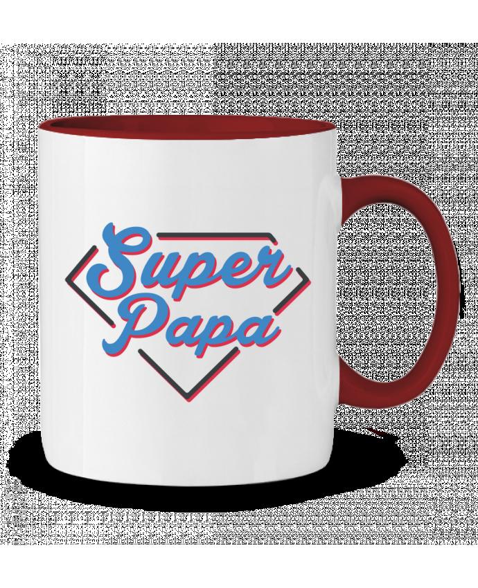 Mug en Céramique Bicolore Super papa tunetoo