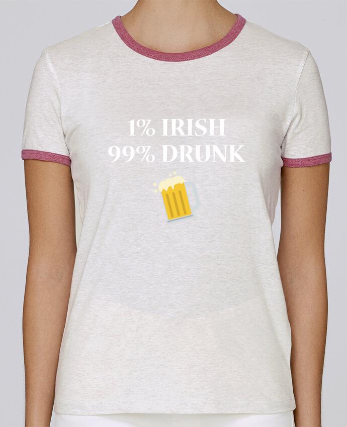 T-shirt Femme Stella Returns 1% Irish 99% Drunk pour femme par tunetoo
