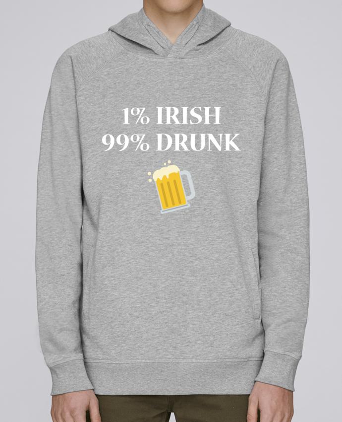 Sweat Capuche Homme Stanley Base 1% Irish 99% Drunk par tunetoo