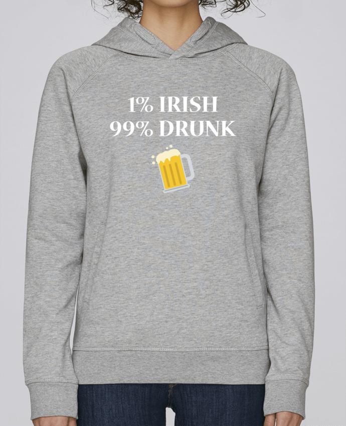 Sweat Capuche Femme Stanley Base 1% Irish 99% Drunk par tunetoo