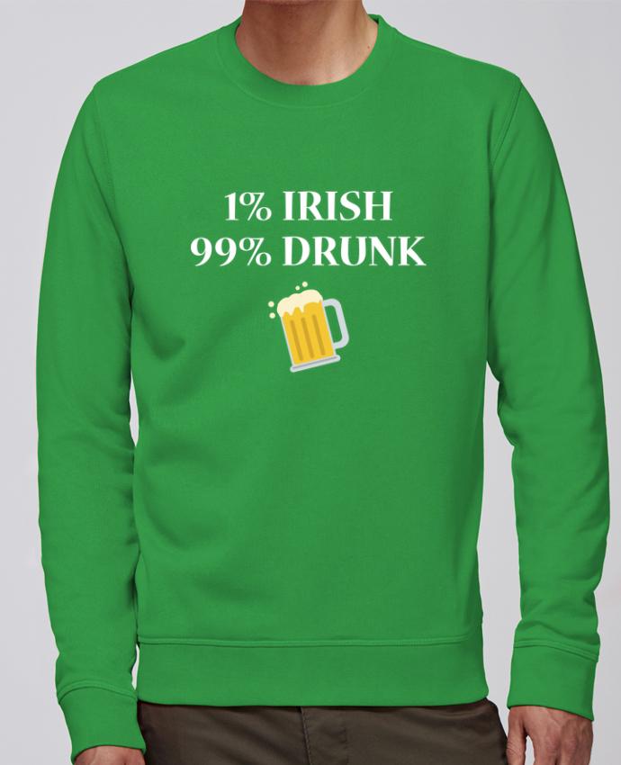Sweat Col rond Unisex Stanley Stella Rise 1% Irish 99% Drunk par tunetoo