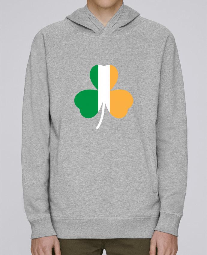 Sweat Capuche Homme Stanley Base Shamrock Irish flag par tunetoo