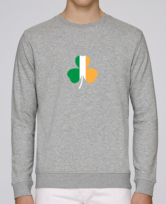 Sweat Col rond Unisex Stanley Stella Rise Shamrock Irish flag par tunetoo
