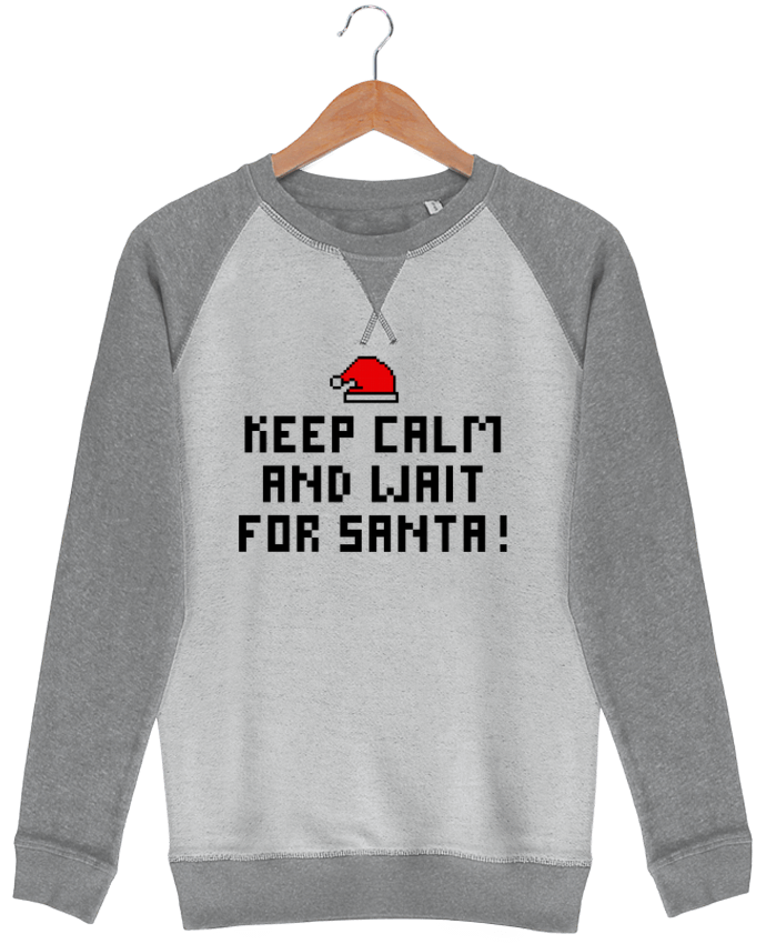 Sweat French Terry Keep calm and wait for Santa ! par tunetoo