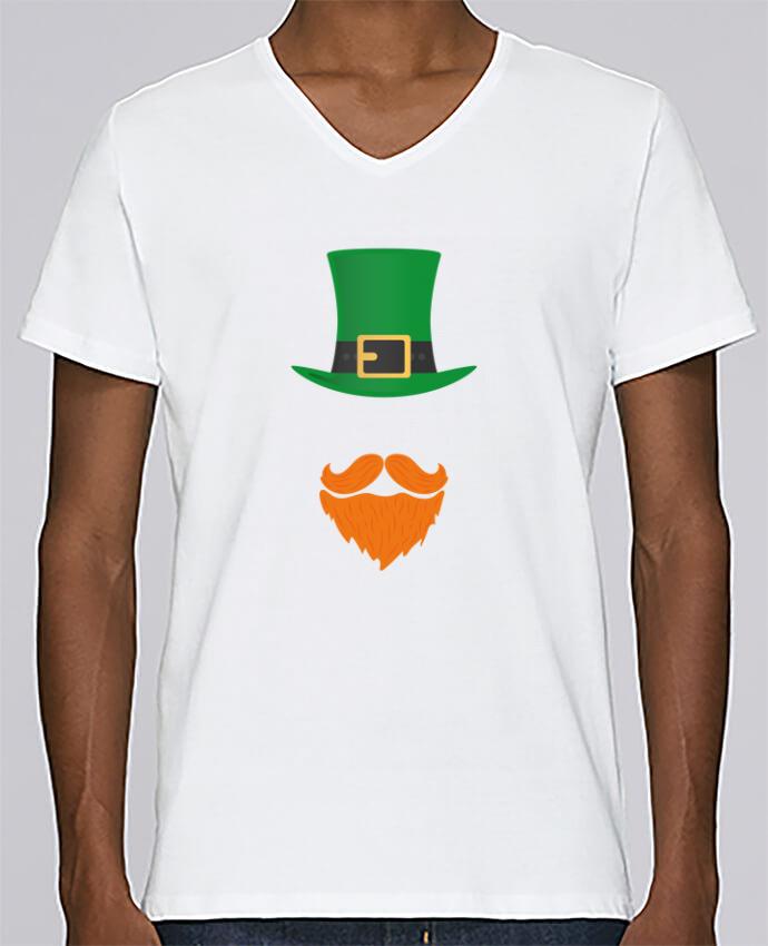 T-shirt Col V Homme Stanley Relaxes Leprechaun par tunetoo