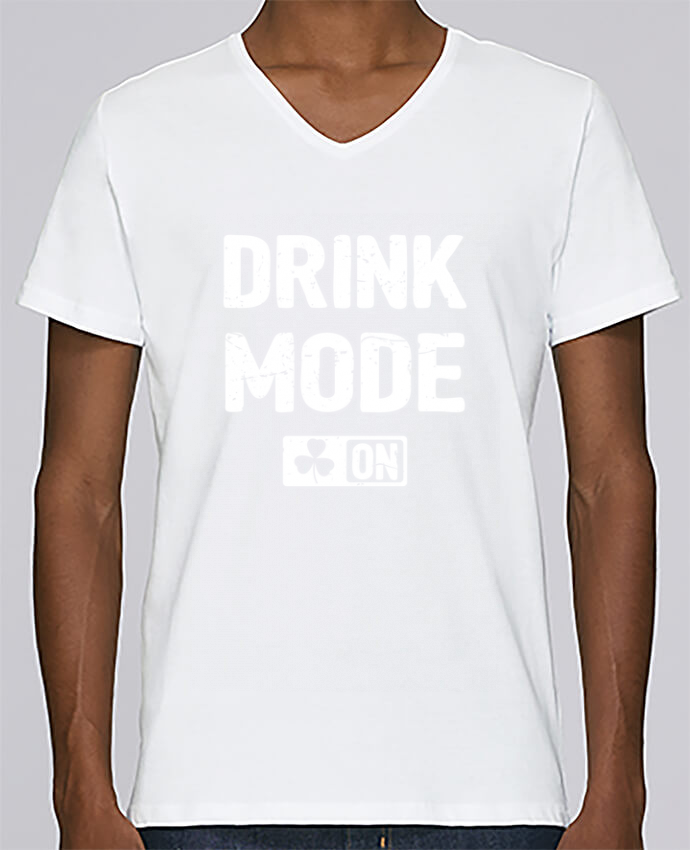 T-shirt Col V Homme Stanley Relaxes Drink Mode On par tunetoo
