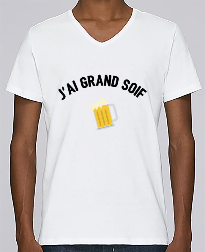 T-shirt Col V Homme Stanley Relaxes J'ai grand soif ! par tunetoo