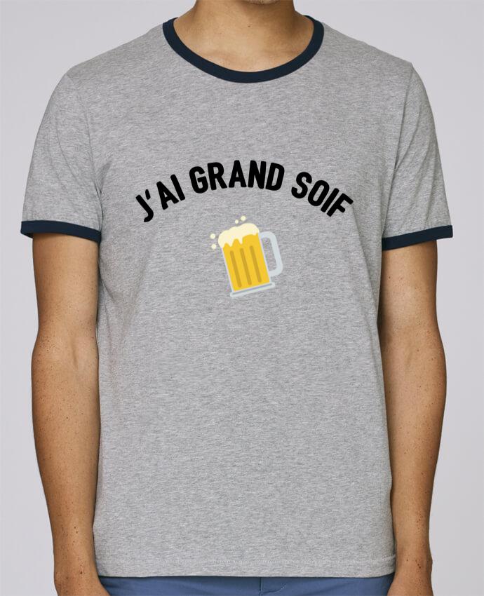 T-Shirt Ringer Contrasté Homme Stanley Holds J'ai grand soif ! pour femme par tunetoo