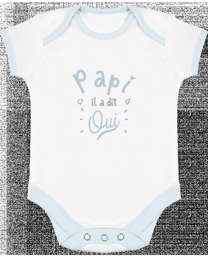 body bébé contrasté papi il a dit oui naissance cadeau bébé