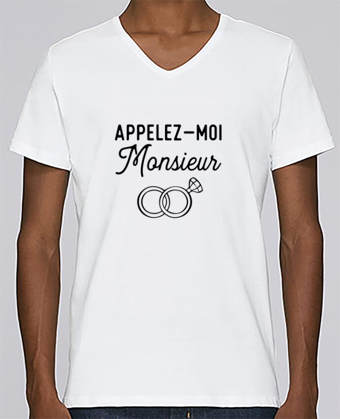 T-shirt Col V Homme Stanley Relaxes Appelez moi monsieur cadeau mariage evg par Original t-shirt