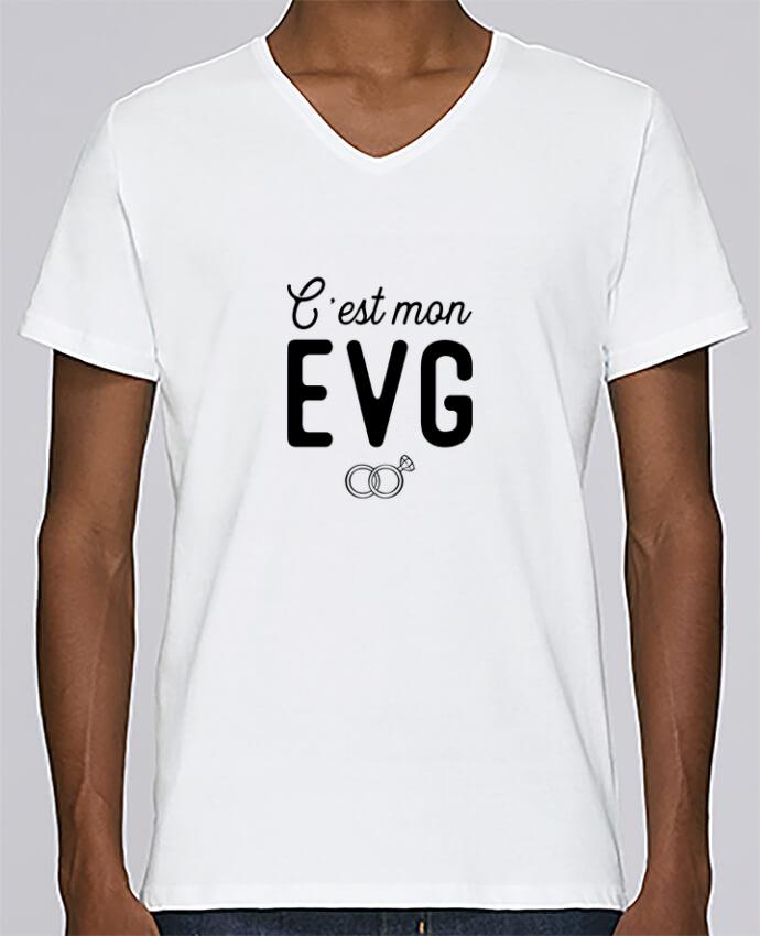 T-shirt Col V Homme Stanley Relaxes C'est mon evg cadeau mariage evg par Original t-shirt