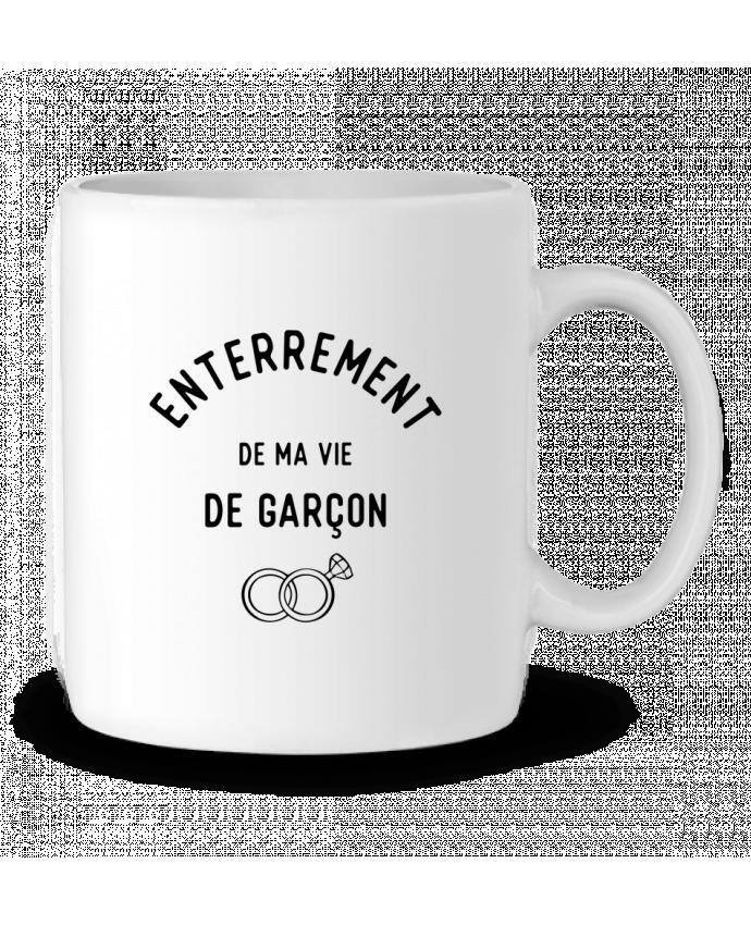 Mug en Céramique Ma vie de garçon cadeau mariage evg par Original t-shirt