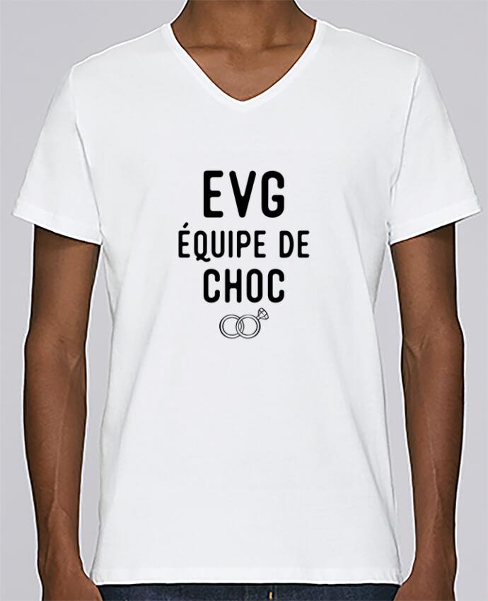 T-shirt Col V Homme Stanley Relaxes équipe de choc mariage evg par Original t-shirt