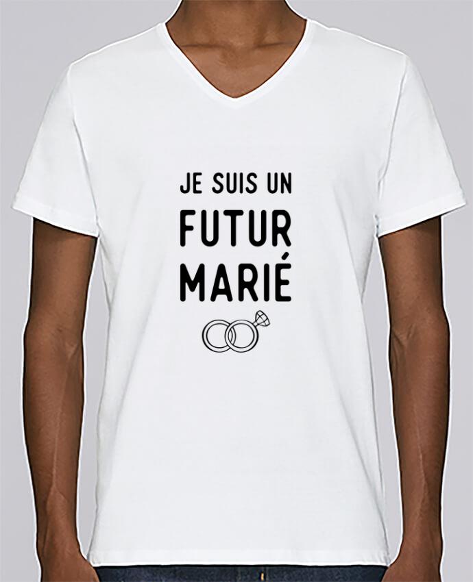 T-shirt Col V Homme Stanley Relaxes Je suis un futur marié mariage evg par Original t-shirt
