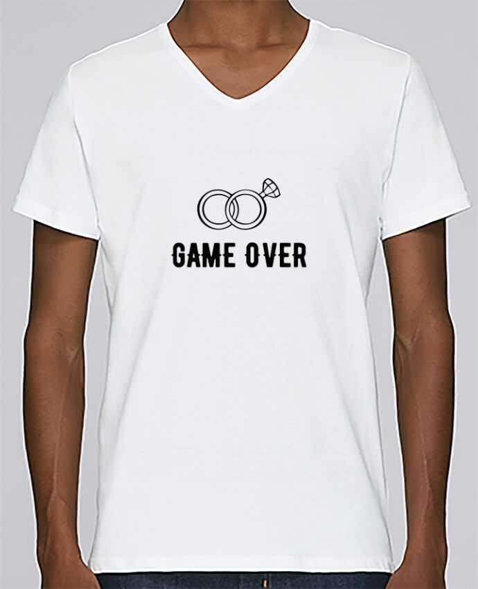 T-shirt Col V Homme Stanley Relaxes Game over mariage evg par Original t-shirt