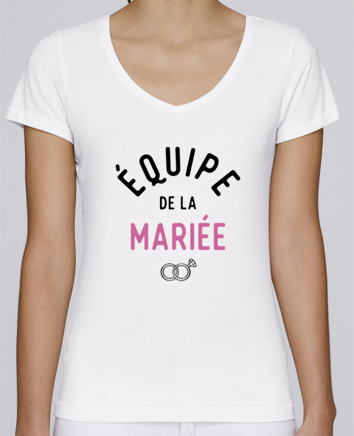 T-shirt Femme Col V Stella Chooses équipe de la mariée cadeau mariage evjf par Original t-shirt