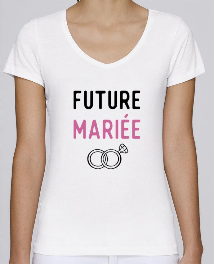 T-shirt Femme Col V Stella Chooses Future mariée cadeau mariage evjf par Original t-shirt