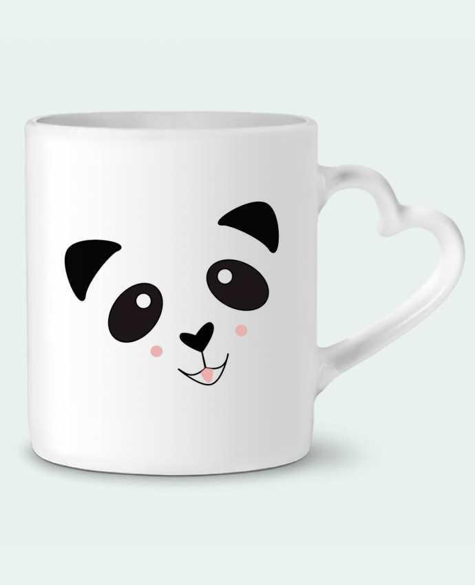 Mug Coeur Bébé Panda Mignon par K-créatif