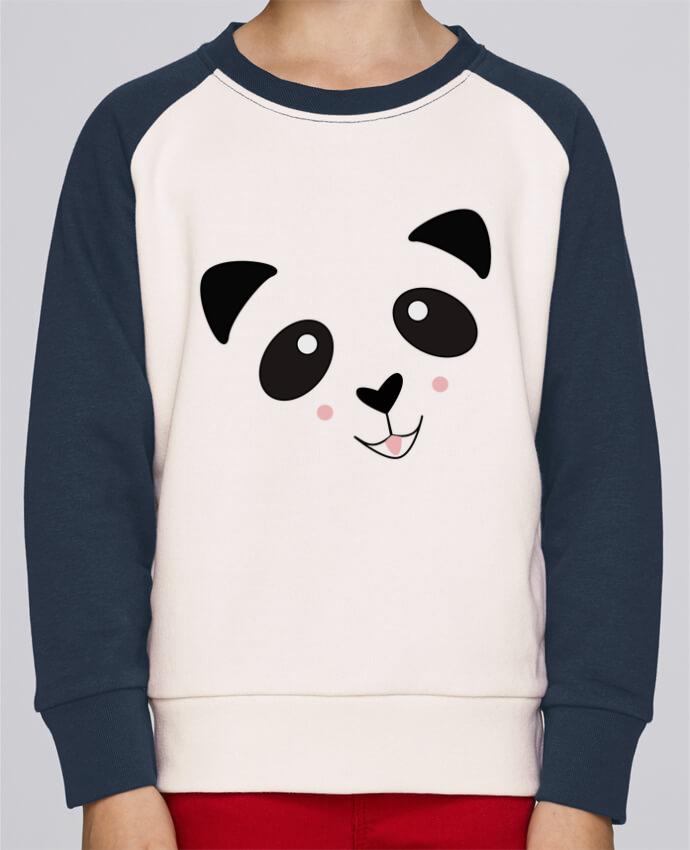 Sweat Shirt Col Rond Enfant Stanley Mini Contrast Bébé Panda Mignon par K-créatif