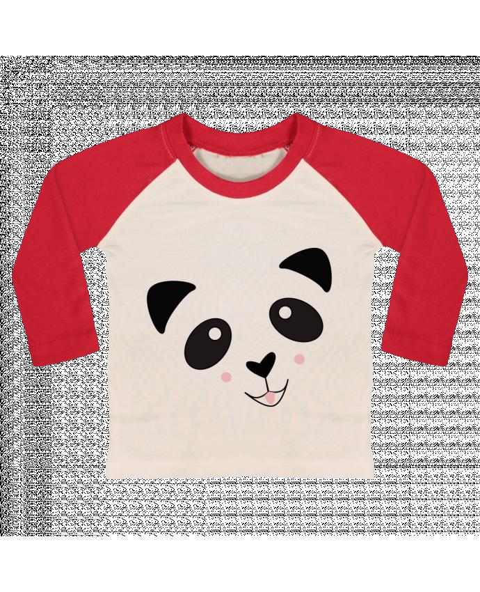 T-shirt Bébé Baseball Manches Longues Bébé Panda Mignon par K-créatif
