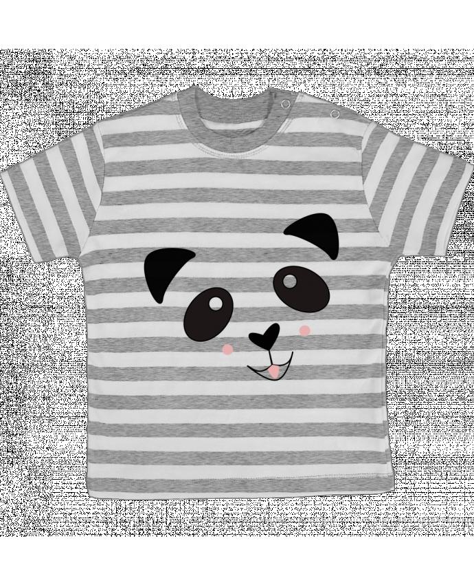 T-shirt Bébé à Rayures Bébé Panda Mignon par K-créatif