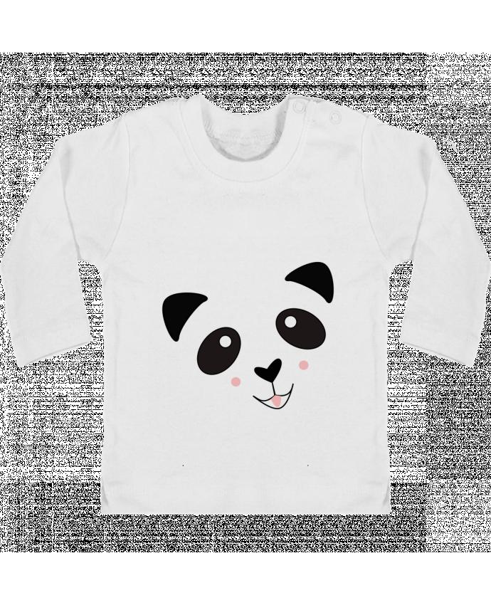 T-shirt Bébé Manches Longues Boutons Pression Bébé Panda Mignon manches longues du designer K-créatif