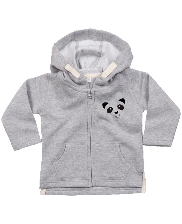 Sweat Bébé Zippé à Capuche Bébé Panda Mignon par K-créatif