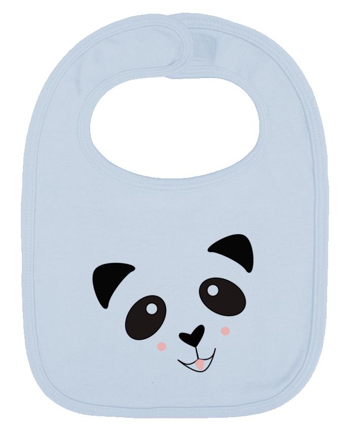 Bavoir Uni et Contrasté Bébé Panda Mignon par K-créatif