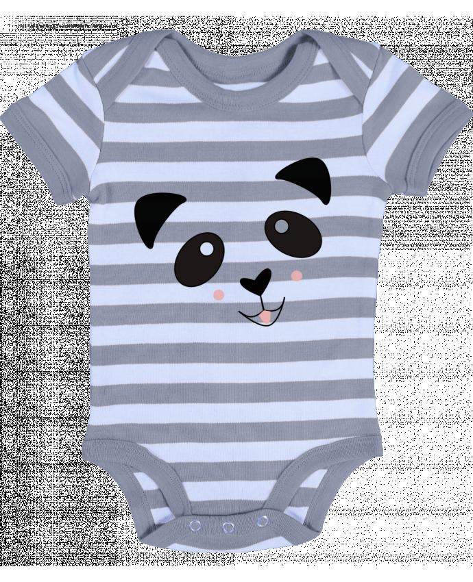 Body Bébé à Rayures Bébé Panda Mignon - K-créatif