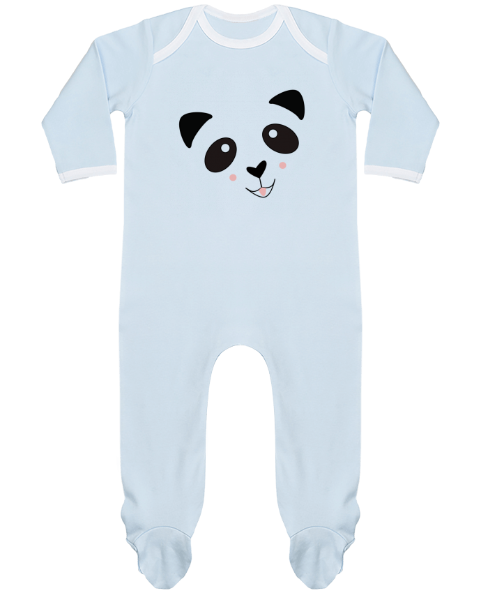 Pyjama Bébé Manches Longues Contrasté Bébé Panda Mignon par K-créatif