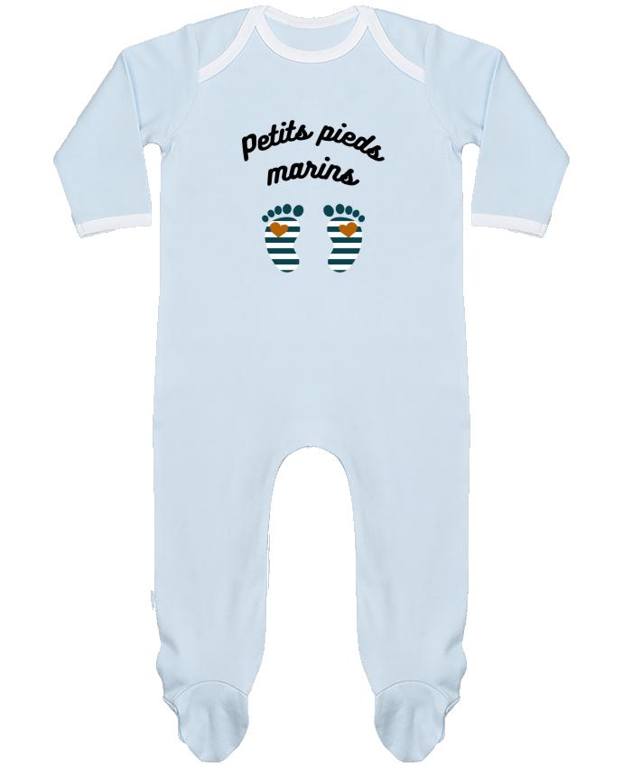 Pyjama Bébé Manches Longues Contrasté Petits pieds marins par Le petit monde de Kélyan