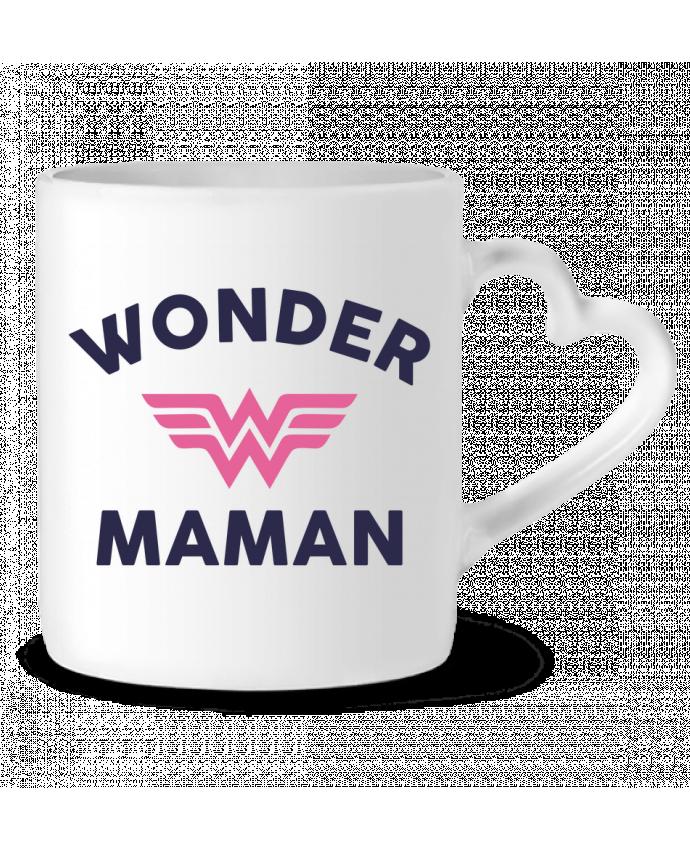 Mug coeur Wonder Maman par tunetoo