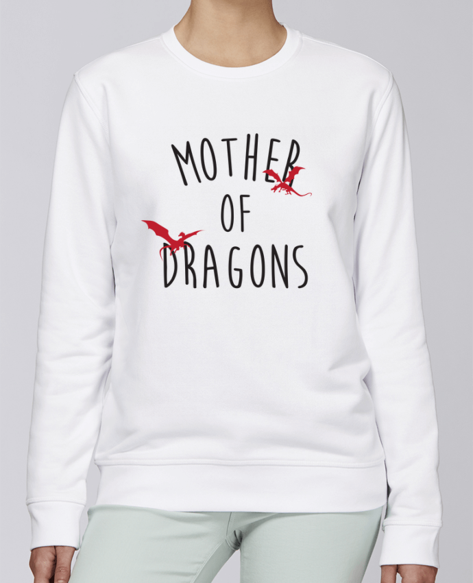Sweat Col rond Unisexe Stanley Stella Rise Mother of Dragons - Game of thrones par tunetoo