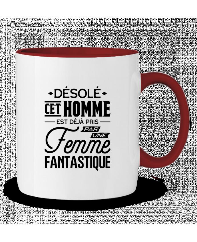 Mug en Céramique Bicolore Une femme fantastique Original t-shirt