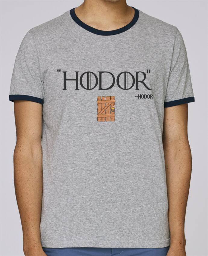 T-Shirt Ringer Contrasté Homme Stanley Holds Hodor pour femme par tunetoo