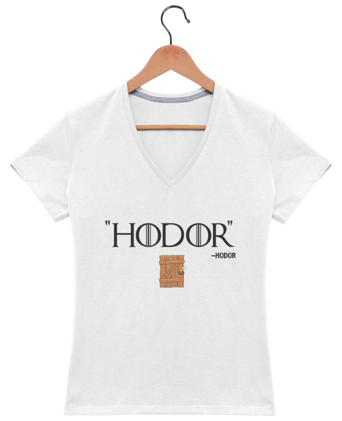 T-shirt Col V Femme 180 gr Hodor par tunetoo