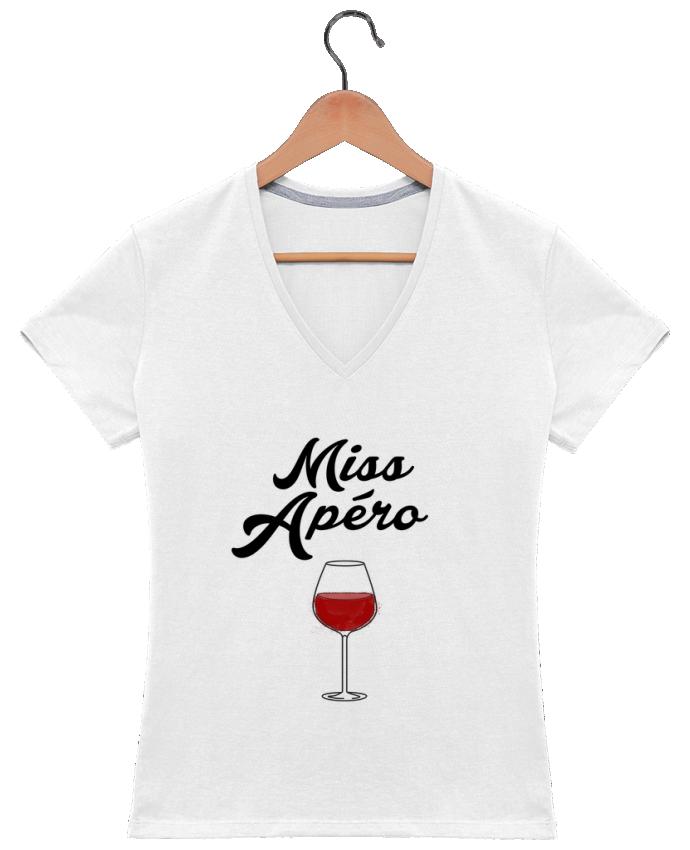 T-shirt Col V Femme 180 gr Miss Apéro par tunetoo