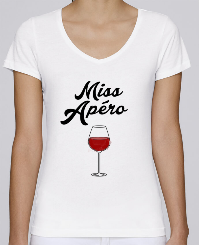 T-shirt Femme Col V Stella Chooses Miss Apéro par tunetoo